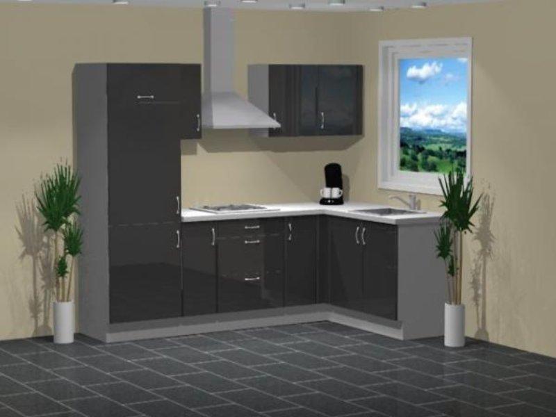 Compacte Keuken In Kast : compacte hoekkeuken antracietgrijs
