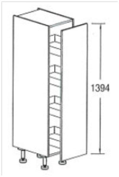 Apothekerskast Keuken 30 Cm : hoge apothekerskast 139.7 cm , 1 deur excl. plinthoogte (15,6 cm)RKSAZ