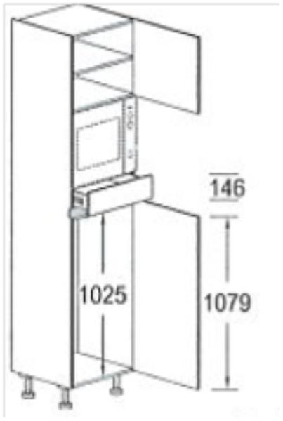 Greeploze Hoge Keukenkasten Voor Inbouwapparaten Hoge