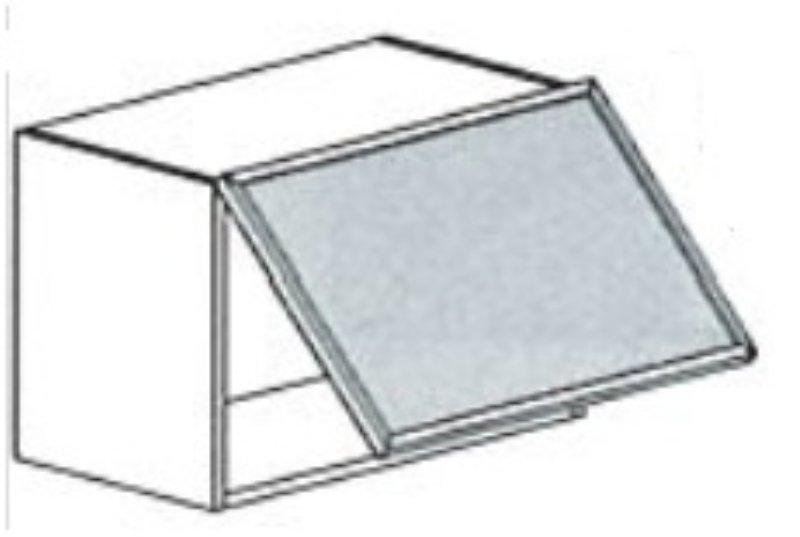 Keukenkasten Met Glas : ... met 1 klepdeur met glas in RvS omlijsting ...